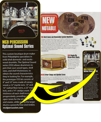 MCD Percussion in Sept issue of Modern Drummer 2012